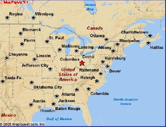 JCC Consulting Inc Training Page - Map usa ohio